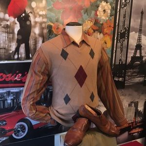 Roundtree and yorke Cotton sweater vest